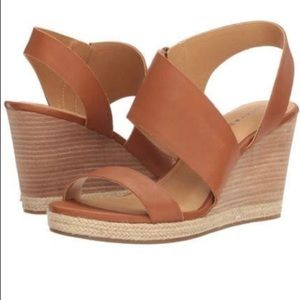 LUCKY BRAND Lowden Leather Wedges